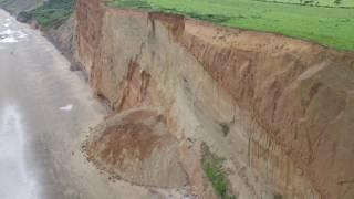 Landslide at Yaverland Beach, Isle of Wight - Island Echo