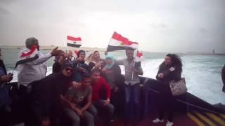 شاهد : فرحة أعضاء تمرد فى قناة السويس الجديدة