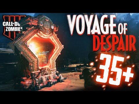 VOYAGE of DESPAIR *EASY* Round 35+ Gameplay/Tutorial! (Black Ops 4 Zombies)