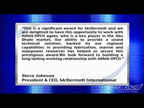 News Update: McDermott wins $350M contract in Abu Dhabi (MDR)