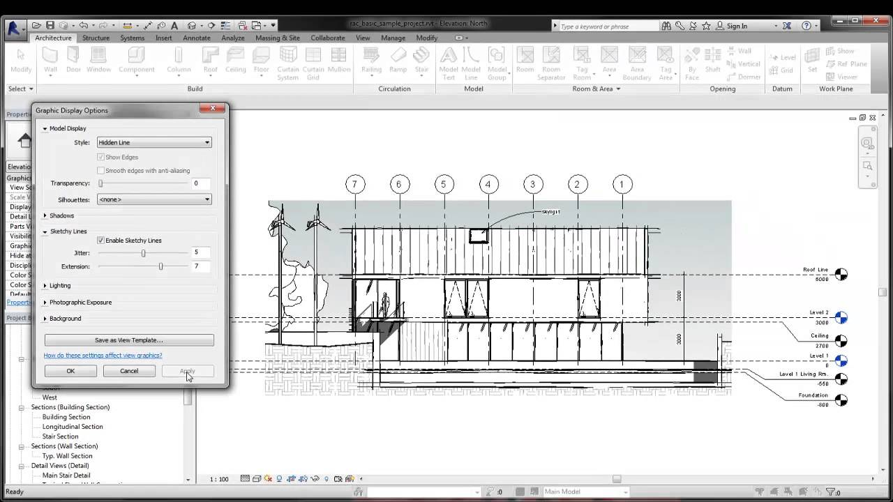 how to draw a 3d line in revit