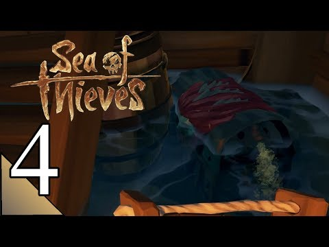 Sea Of Thieves Multiplayer 4:  Emotional Baggage With A Full Galleon Crew!  Let's Play Gameplay