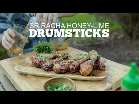 Sriracha Honey-Lime Drumsticks