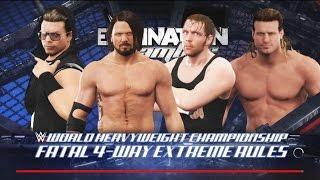 WWE 2K17-Dean Ambrose vs Dolph Ziggler vs A.J. Styles vs The Miz-Fatal 4-Way for Both Championship