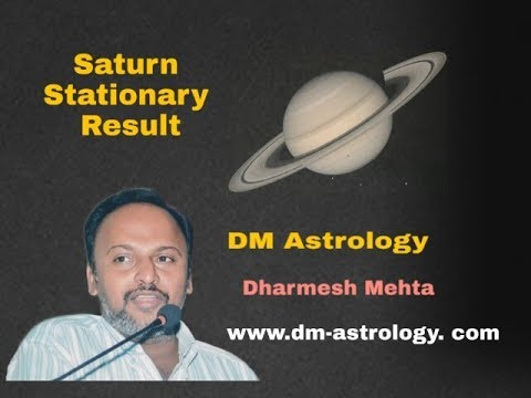 Advantages from Saturn/Shani Stationery in Vedic Astrology