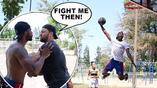 Pick Up Basketball Against D1 Players ( FIGHT BREAKS OUT)