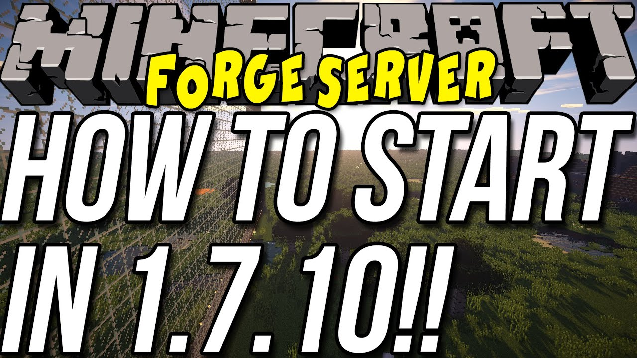 How To Start A Forge Server In Minecraft YouTube - Minecraft server erstellen kostenlos 24and7