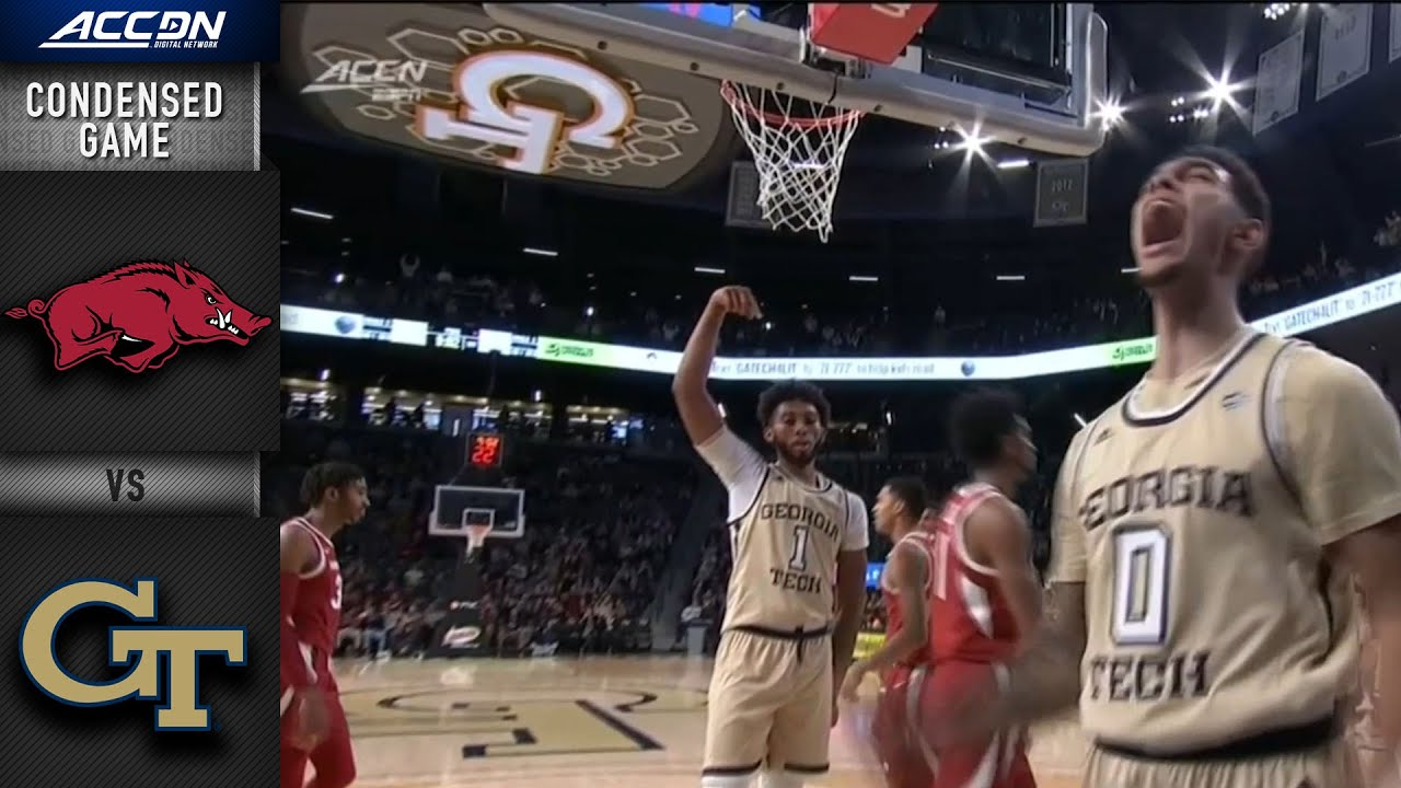 Arkansas vs. Georgia Tech Men's Basketball Highlights (2019-20)