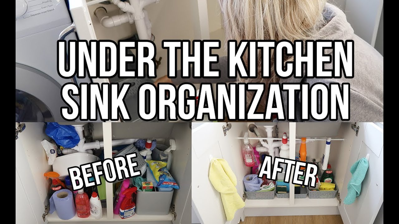 How To Organise Under The Kitchen Sink Cupboard Storage Tips And