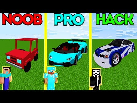 Minecraft Battle: NOOB vs PRO vs HACKER: BABY CAR CHALLENGE in Minecraft Animation