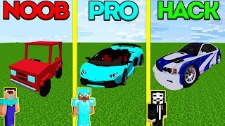 Minecraft Battle: NOOB vs PRO vs HACKER: BABY CAR CHALLENGE in Minecraft Animation