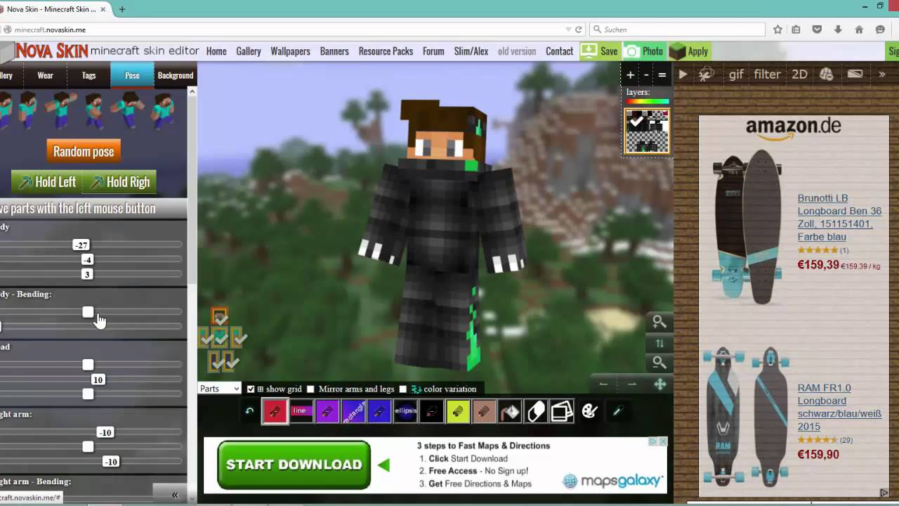 how to make animated skins minecraft