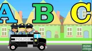 ABC Song with Police Car - 5 Minute Loop - Nursery Rhyme/Lullaby in 1080 HD