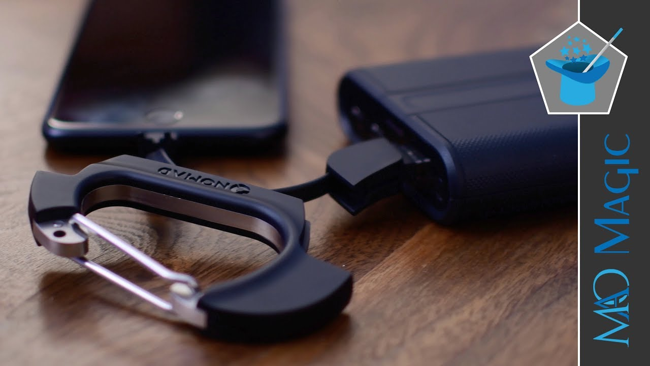 new concept 4c117 d654c Nomad Lightning Carabiner Keeps a Charger with you at all Times - Review