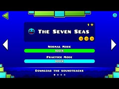 "Geometry Dash Meltdown: ""The Seven Seas"" 100% Complete [All Coins] | GuitarHeroStyles"