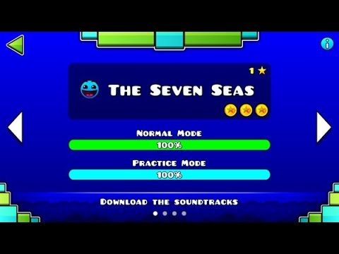 "Geometry Dash Meltdown: ""The Seven Seas"" 100% Complete [All Coins] 
