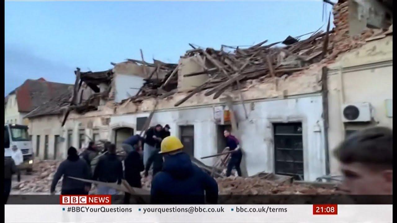 Croatia Earthquake Seven Dead As Rescuers Search Rubble For Survivors Bbc 29th December 2020 Youtube