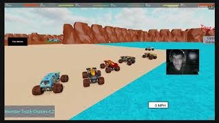 Roblox monster jam event. First webcam stream. Road to 60 subs!!!
