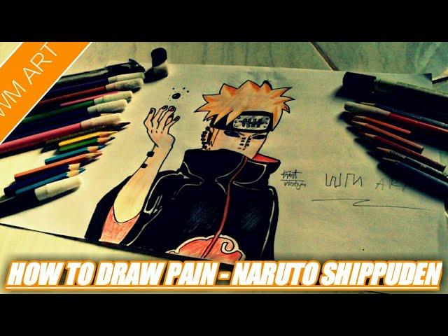 CARA MENGGAMBAR PAIN 3D - NARUTO SHIPUDEN #1