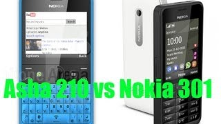 nokia Asha 210 vs Nokia 301 Spec Comparison