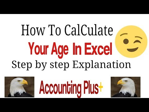 How To Calculate Age From Date Of Birth In Excel 2019