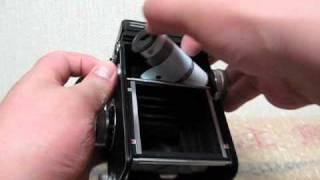 二眼レフカメラ「ローライコードVb」のフィルムを取り出す件