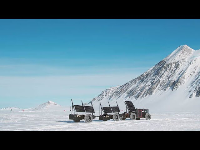 Traveling the South Pole with solar energy only