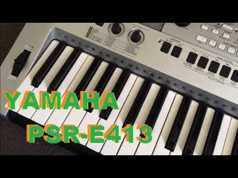 yamaha psr e413 home keyboard with great synth features youtube. Black Bedroom Furniture Sets. Home Design Ideas