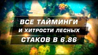 Все тайминги и хитрости лесных спавнов в 6.86