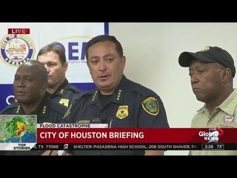 Houston Police chief delivers passionate speech about officer who drowned in Harvey floods
