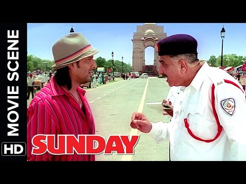 Arshad Warsi fools a cop | Sunday | Movie Scene | Comedy