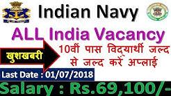 Join Indian Navy (Nausena Bharti) MR Recruitment 2018 | No Application Fee | Last Date : 01/07/2018