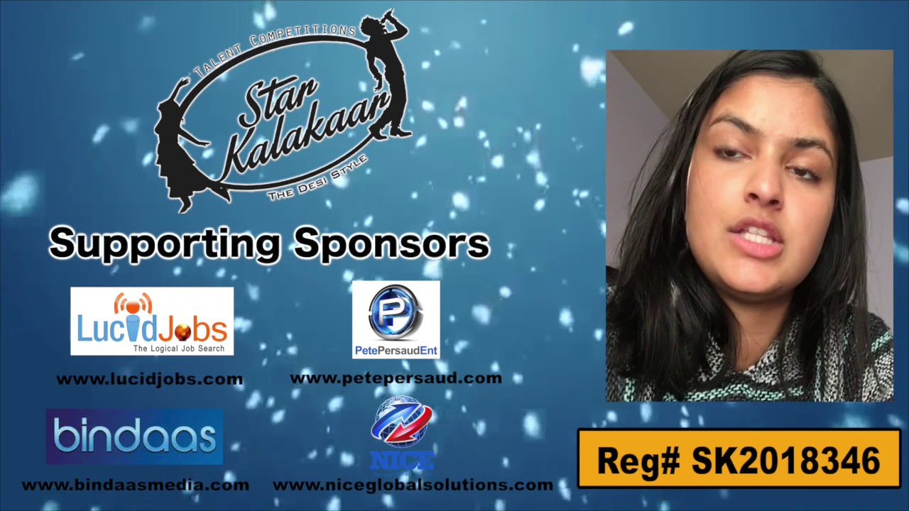 Participant Reg# SK2018-346 Introduction - US Star Kalakaar 2018 || DesiplazaTV