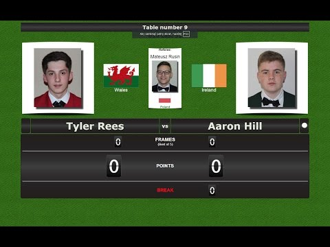 Snooker U18 Last 32 : Tyler Rees vs Aaron Hill