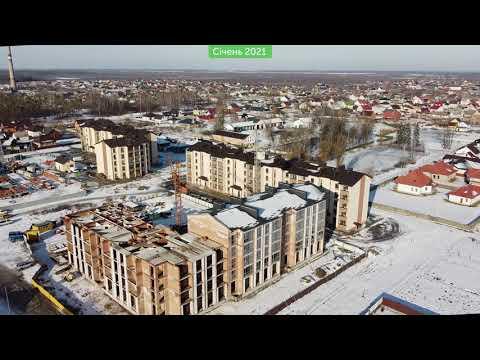 ЖК Парковий квартал: хід будівництва, січень 2021