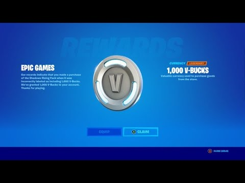 Download You May Be Eligible For a FREE 1,000 V-Bucks From Epic Games!