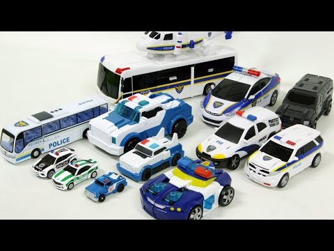 police cars transformers carbot tobot 17 vehicle transf