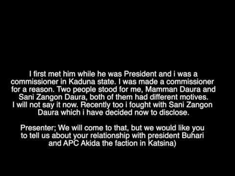 AUDIO: The Reason I Hate Working With Buhari - Tijanni Zangon Daura