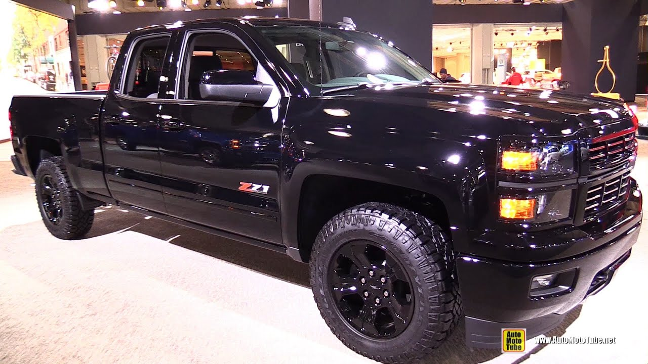 2015 chevrolet silverado lt z71 midnight edition exterior and interior walkaround 2015 new yo. Black Bedroom Furniture Sets. Home Design Ideas