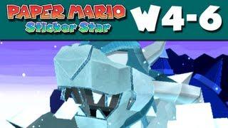 Paper Mario Sticker Star - W4-6 - Bowser's Snow Fort (Nintendo 3DS Gameplay Walkthrough) thumbnail