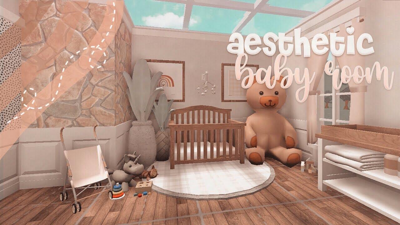 Aesthetic Bloxburg Nursery Speedbuild 🦢|| Fairyglows - YouTube