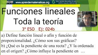 Toda la teoría sobre funciones lineales...