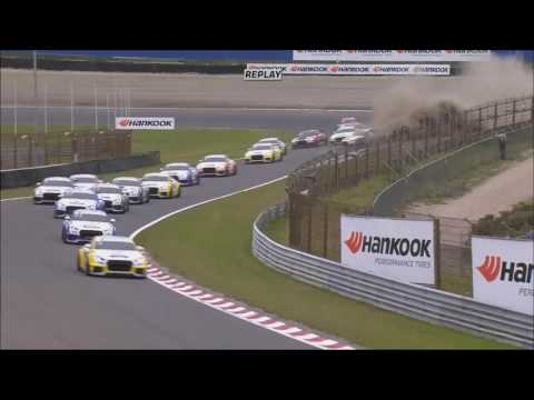 Audi Sport TT Cup 2016. Race 1 Circuit Park Zandvoort. 1st Lap Big Crash & Red Flag