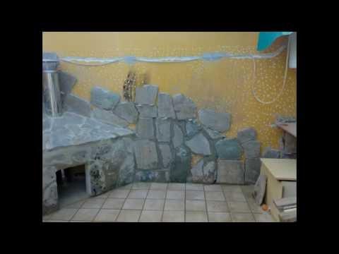 C mo revestir de piedra un patio barra fregadero de obra for Patios con piedras