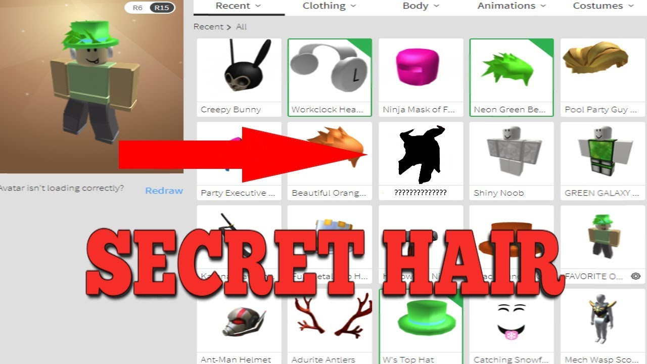 (NOT WORKING) HOW TO GET A *SECRET* ROBLOX HAIR (LEAKED)