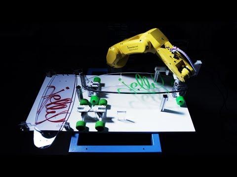 Crazy Robot Assembling Longboard Skateboard