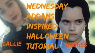 WEDNESDAY ADDAMS INSPIRED HALLOWEEN TUTORIAL