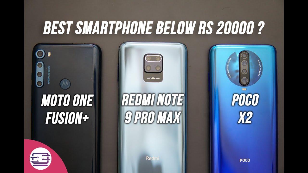 Moto One Fusion+ vs Poco X2 vs Redmi Note 9 Pro Max Comparison