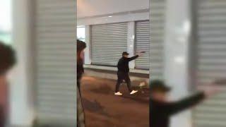 فيديو متداول يظهر مسلحا يرتدي الأسود وهو يطلق النار على المحتجين في البصرة