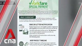 400,000 Singaporeans to receive first half of $3,000 Workfare Special Payment from July 28